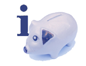 Information and Piggy Bank symbols